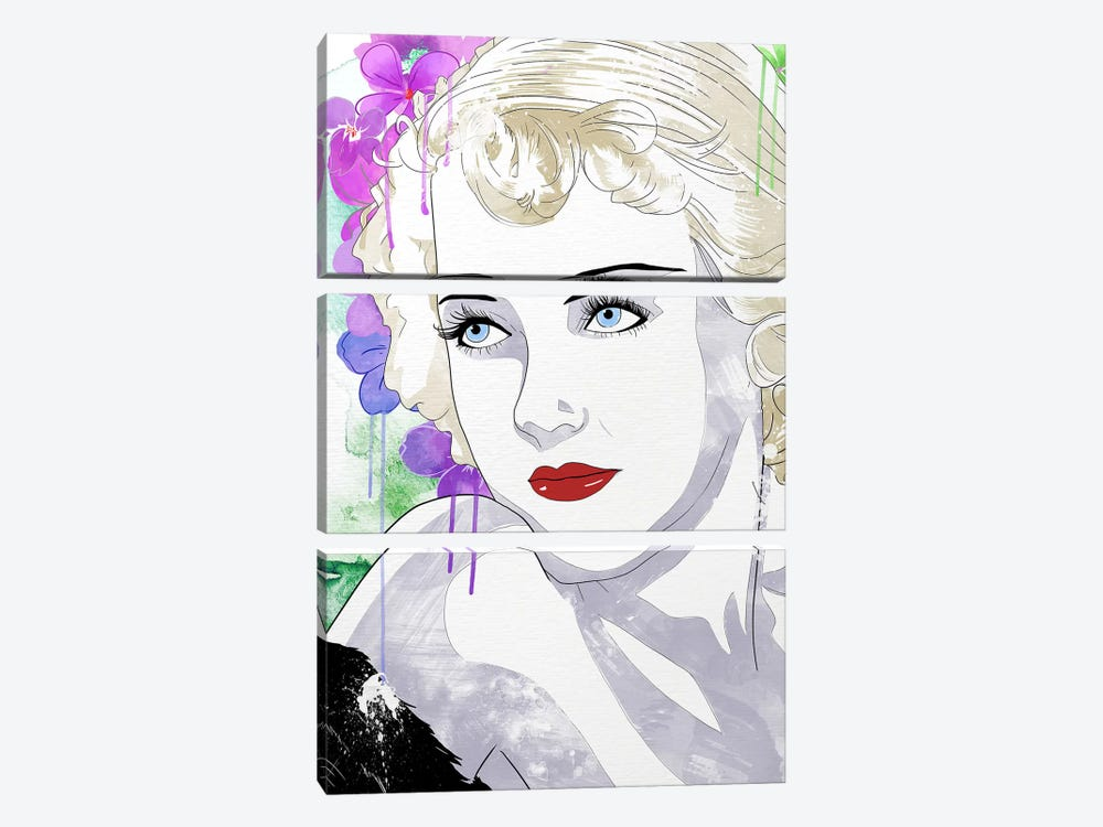 Bette Flower Color Pop by 5by5collective 3-piece Art Print
