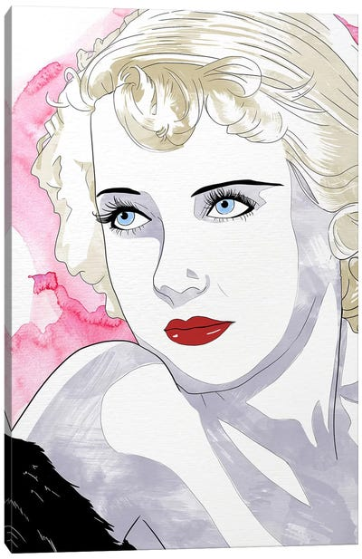 Bette Watercolor Color Pop Canvas Art Print