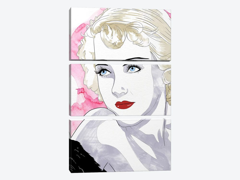 Bette Watercolor Color Pop by 5by5collective 3-piece Canvas Art Print