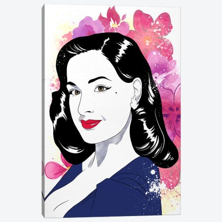 Dita Watercolor Color Pop Canvas Print #ICA1231} by 5by5collective Canvas Wall Art