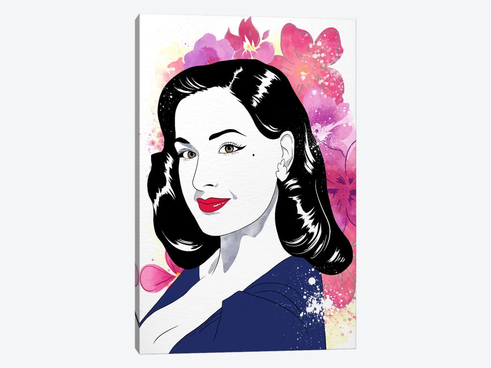 Dita Watercolor Color Pop by 5by5collective 1-piece Canvas Artwork