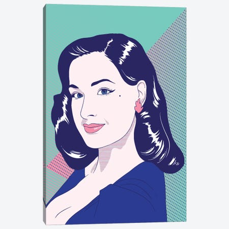 Dita Color Pop Canvas Print #ICA1232} by 5by5collective Canvas Artwork