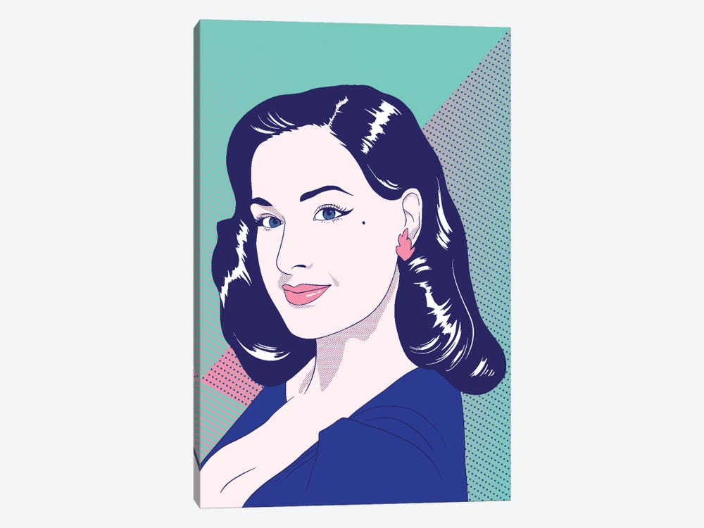 Dita Color Pop by 5by5collective 1-piece Canvas Print