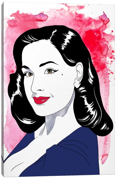 Dita Watercolor Color Pop #2 Canvas Art Print