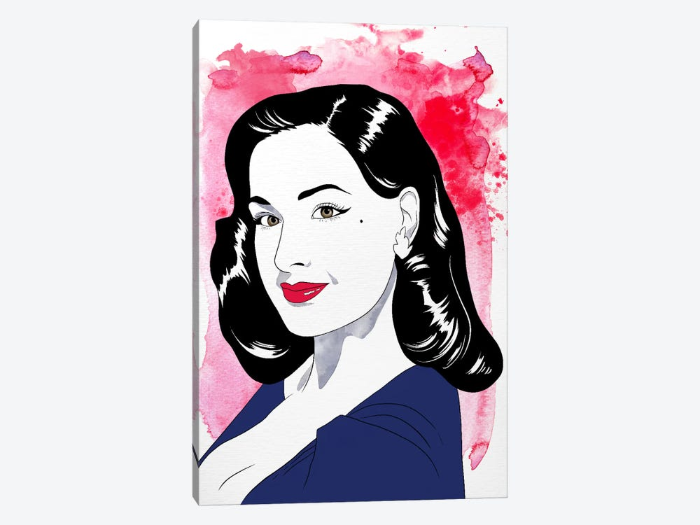Dita Watercolor Color Pop #2 by 5by5collective 1-piece Canvas Wall Art
