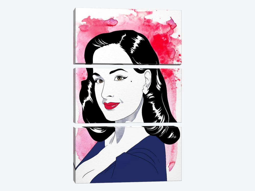 Dita Watercolor Color Pop #2 by 5by5collective 3-piece Canvas Artwork