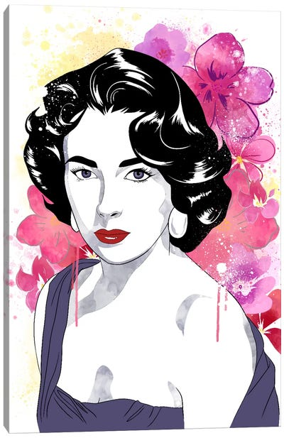 Elizabeth Watercolor Color Pop Canvas Art Print