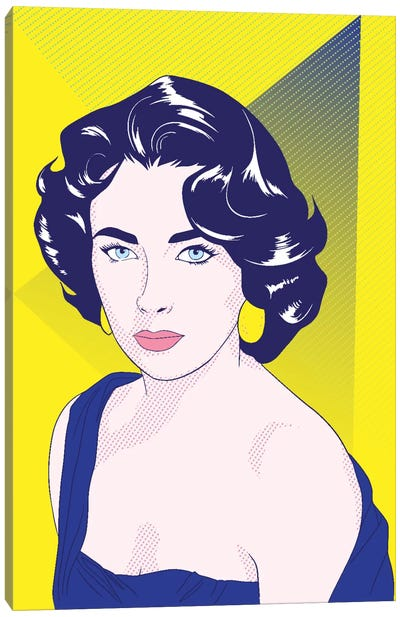 Elizabeth Color Pop Canvas Art Print