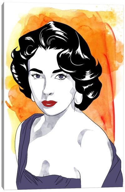 Elizabeth Watercolor Color Pop #2 Canvas Art Print