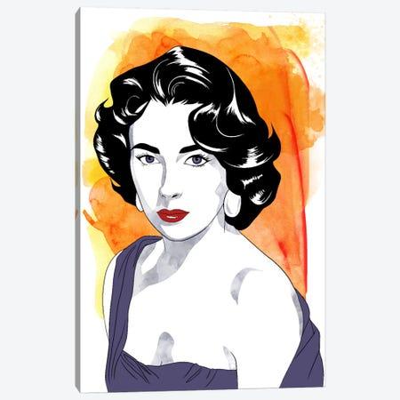 Elizabeth Watercolor Color Pop #2 Canvas Print #ICA1236} by 5by5collective Canvas Print