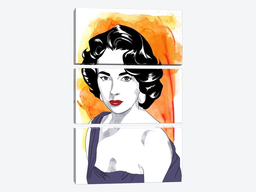 Elizabeth Watercolor Color Pop #2 by 5by5collective 3-piece Art Print