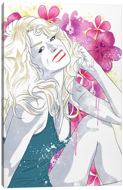 Farrah Flower Color Pop Canvas Art Print