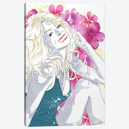 Farrah Flower Color Pop Canvas Print #ICA1238} by 5by5collective Canvas Wall Art