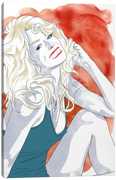 Farrah Watercolor Color Pop Canvas Art Print