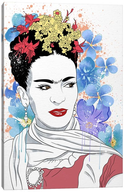 Frida Flower Color Pop Canvas Art Print