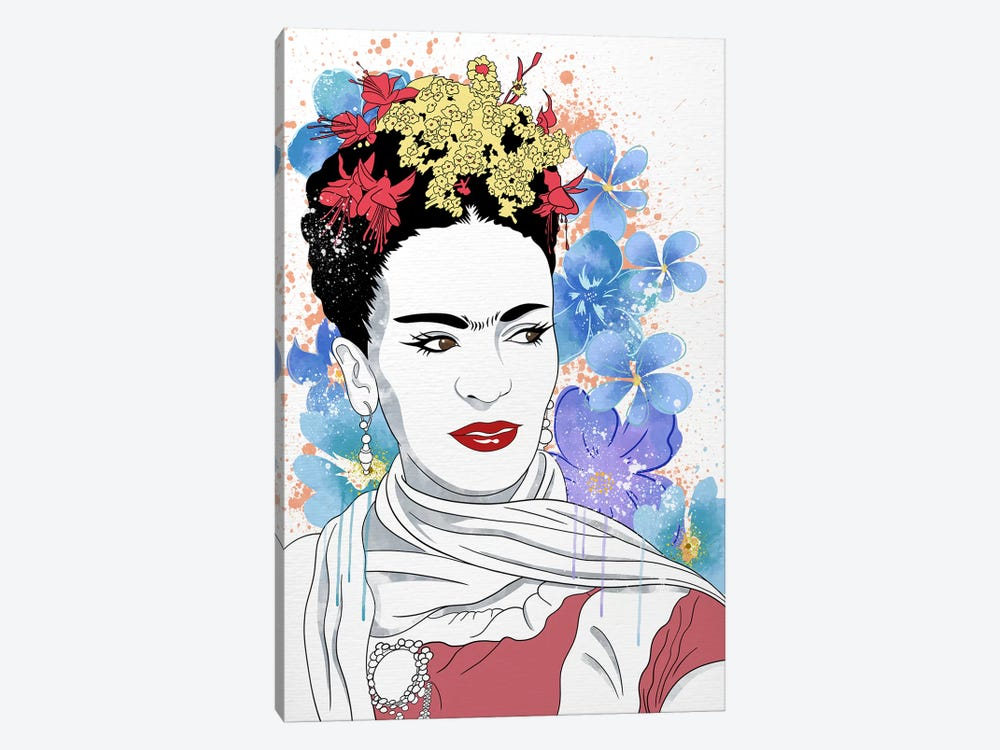 Frida Flower Color Pop by 5by5collective 1-piece Canvas Print