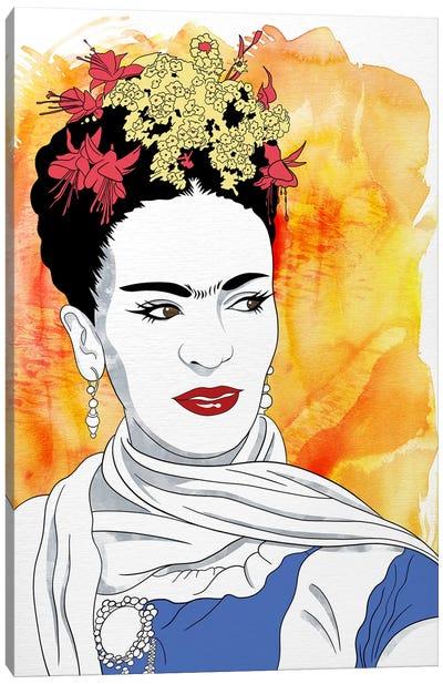 Frida Watercolor Color Pop Canvas Print #ICA1242