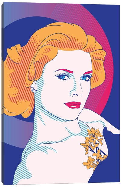 Grace Purple Color Pop Canvas Print #ICA1243