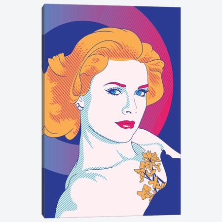 Grace Purple Color Pop Canvas Print #ICA1243} by 5by5collective Canvas Print