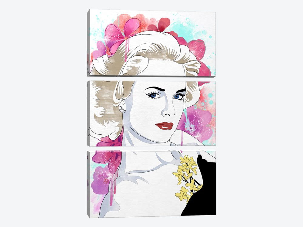Grace Flower Color Pop by 5by5collective 3-piece Canvas Artwork