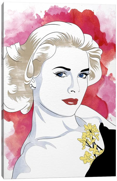 Grace Watercolor Color Pop Canvas Art Print