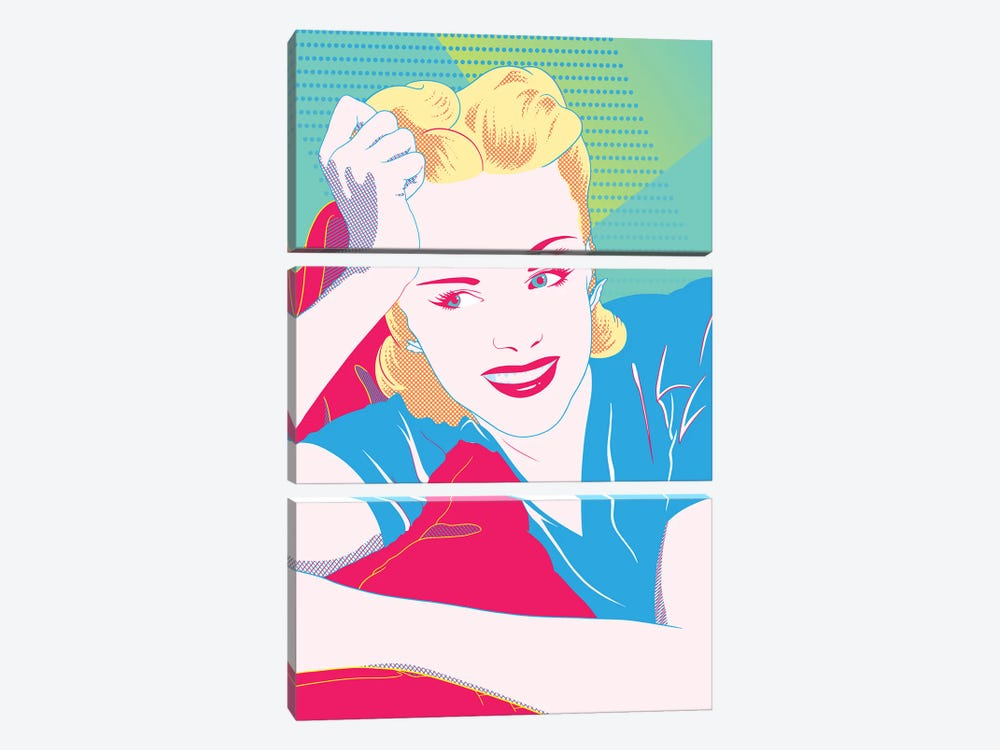 Judy Color Pop by 5by5collective 3-piece Canvas Artwork