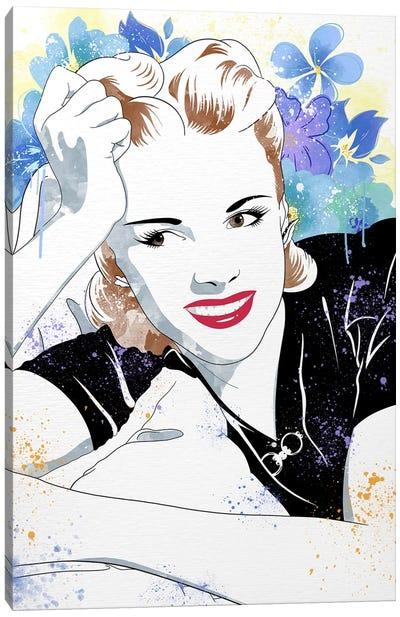Judy Flower Color Pop Canvas Art Print