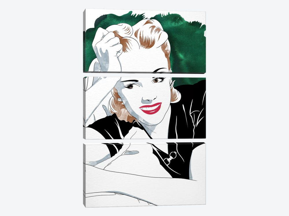Judy Watercolor Color Pop by 5by5collective 3-piece Canvas Wall Art
