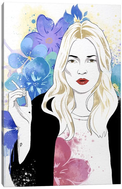 Kate Flower Color Pop Canvas Art Print