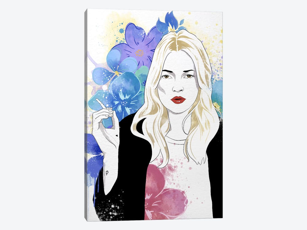 Kate Flower Color Pop by 5by5collective 1-piece Canvas Art Print