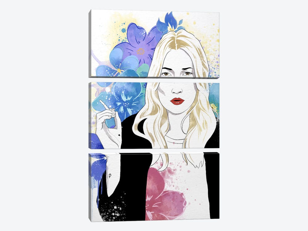 Kate Flower Color Pop by 5by5collective 3-piece Art Print