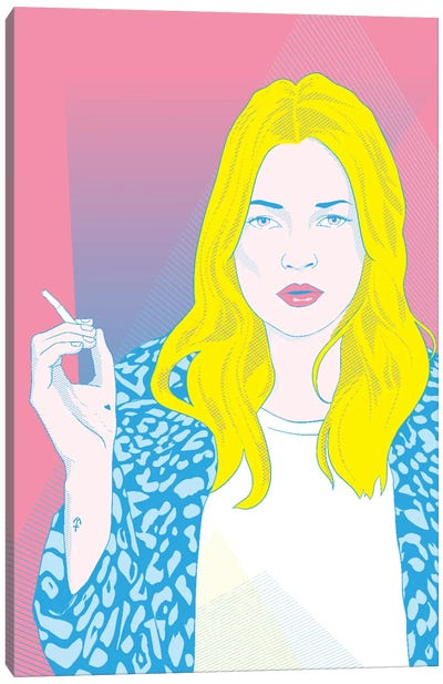 Kate Pink Color Pop Canvas Art Print