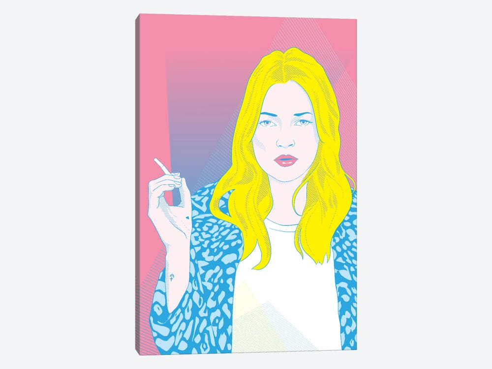 Kate Pink Color Pop by 5by5collective 1-piece Art Print