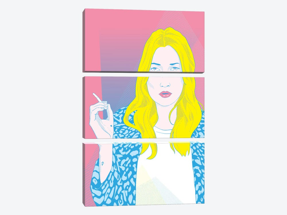 Kate Pink Color Pop by 5by5collective 3-piece Art Print