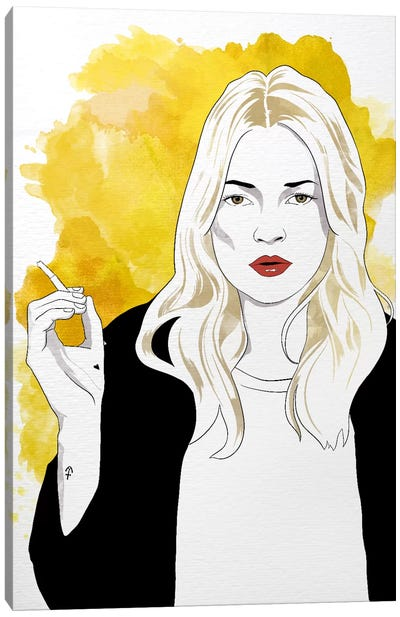 Kate Watercolor Color Pop Canvas Art Print