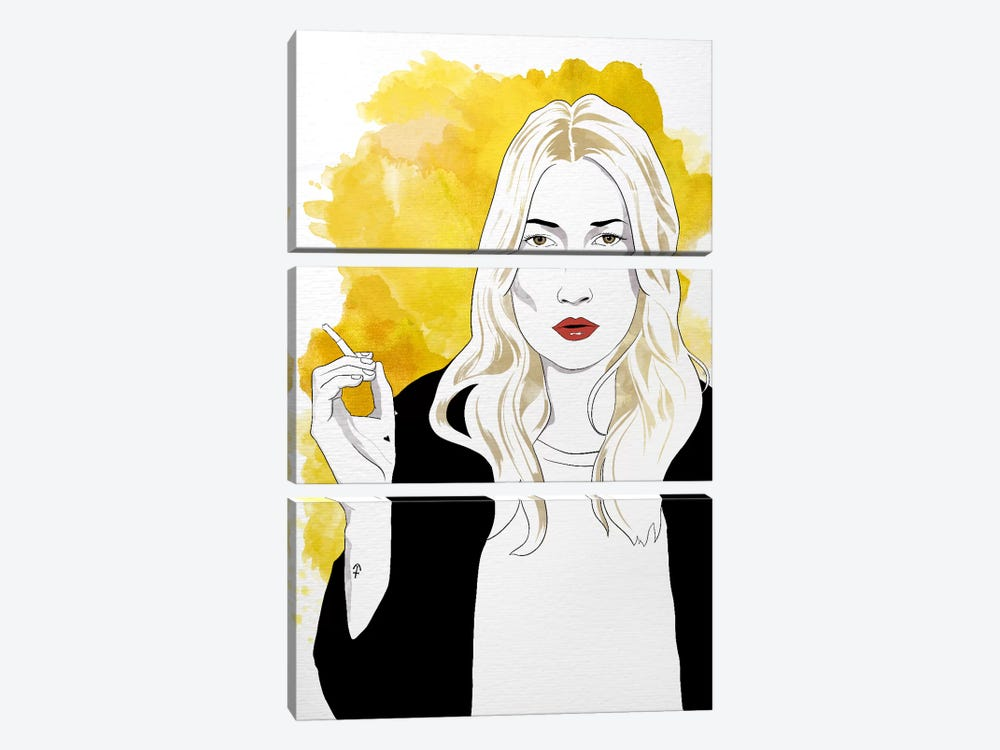 Kate Watercolor Color Pop by 5by5collective 3-piece Canvas Artwork