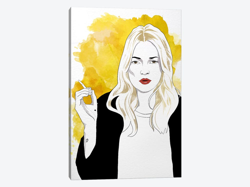 Kate Watercolor Color Pop by 5by5collective 1-piece Canvas Wall Art