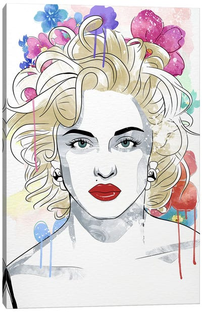Madonna Queen of Pop Flower Color Pop Canvas Art Print
