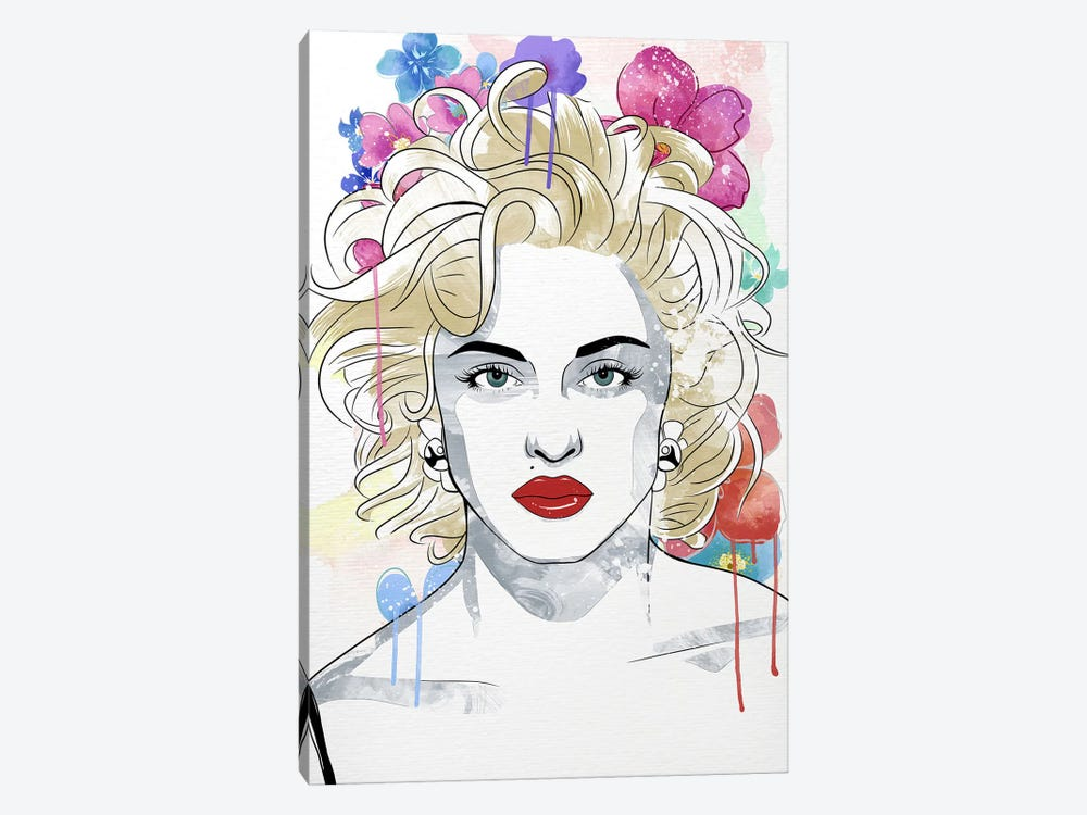 Madonna Queen of Pop Flower Color Pop by 5by5collective 1-piece Art Print