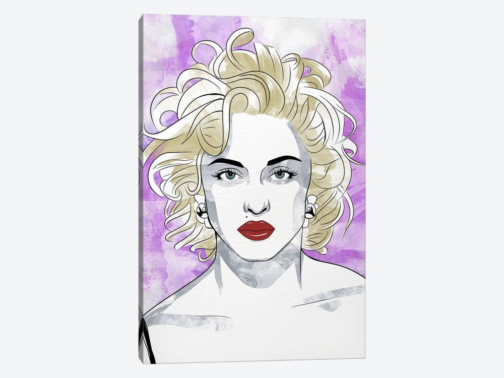 Madonna Queen of Pop Watercolor Color Pop by 5by5collective 1-piece Canvas Wall Art