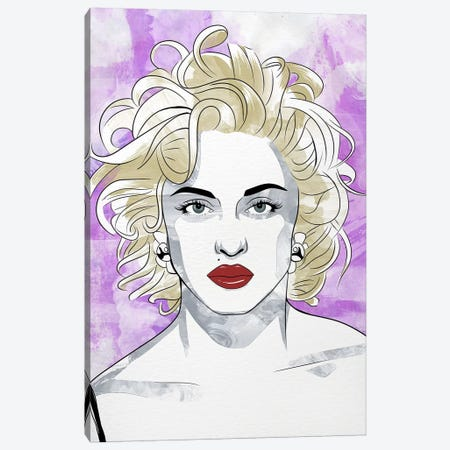 Madonna Queen of Pop Watercolor Color Pop Canvas Print #ICA1253} by 5by5collective Canvas Artwork