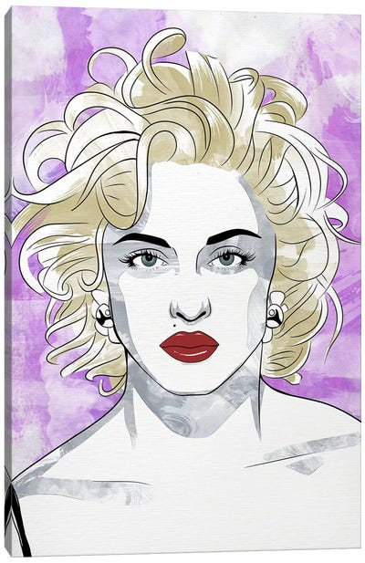 Madonna Queen of Pop Watercolor Color Pop Canvas Art Print