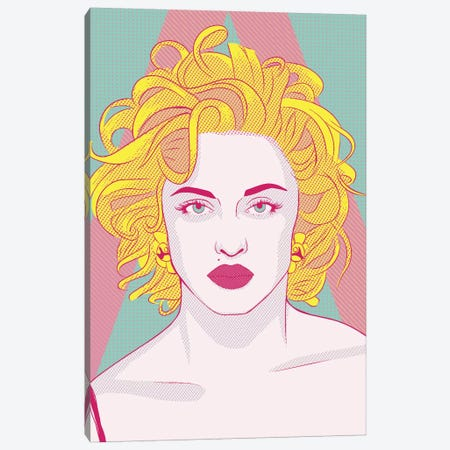 Madonna Queen of Pop Color Pop Canvas Print #ICA1254} by 5by5collective Canvas Art Print