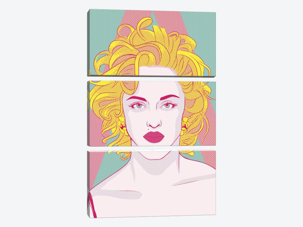 Madonna Queen of Pop Color Pop by 5by5collective 3-piece Canvas Print