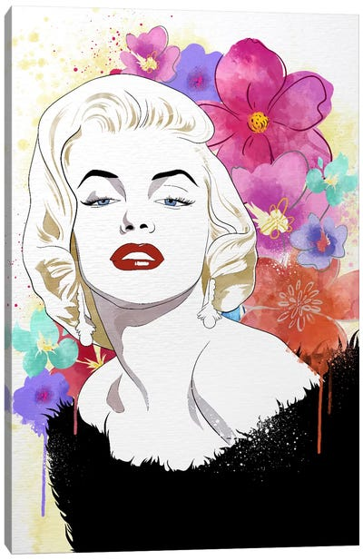Va Va Voom Flower Color Pop Canvas Art Print