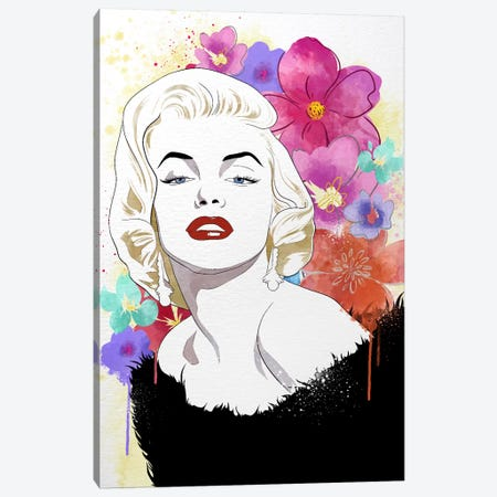 Va Va Voom Flower Color Pop Canvas Print #ICA1255} by 5by5collective Canvas Print