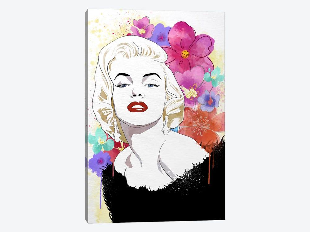 Va Va Voom Flower Color Pop by 5by5collective 1-piece Canvas Art