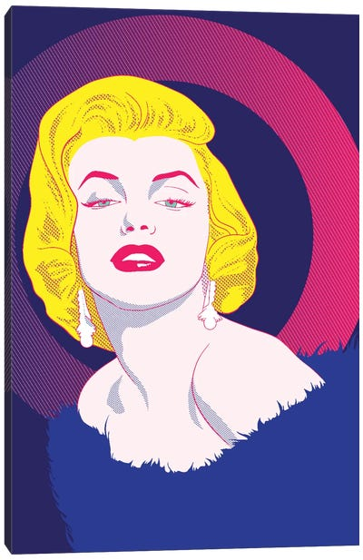 Va Va Voom Color Pop Canvas Art Print