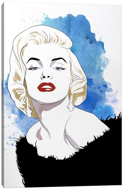 Va Va Voom Watercolor Color Pop Canvas Print #ICA1257