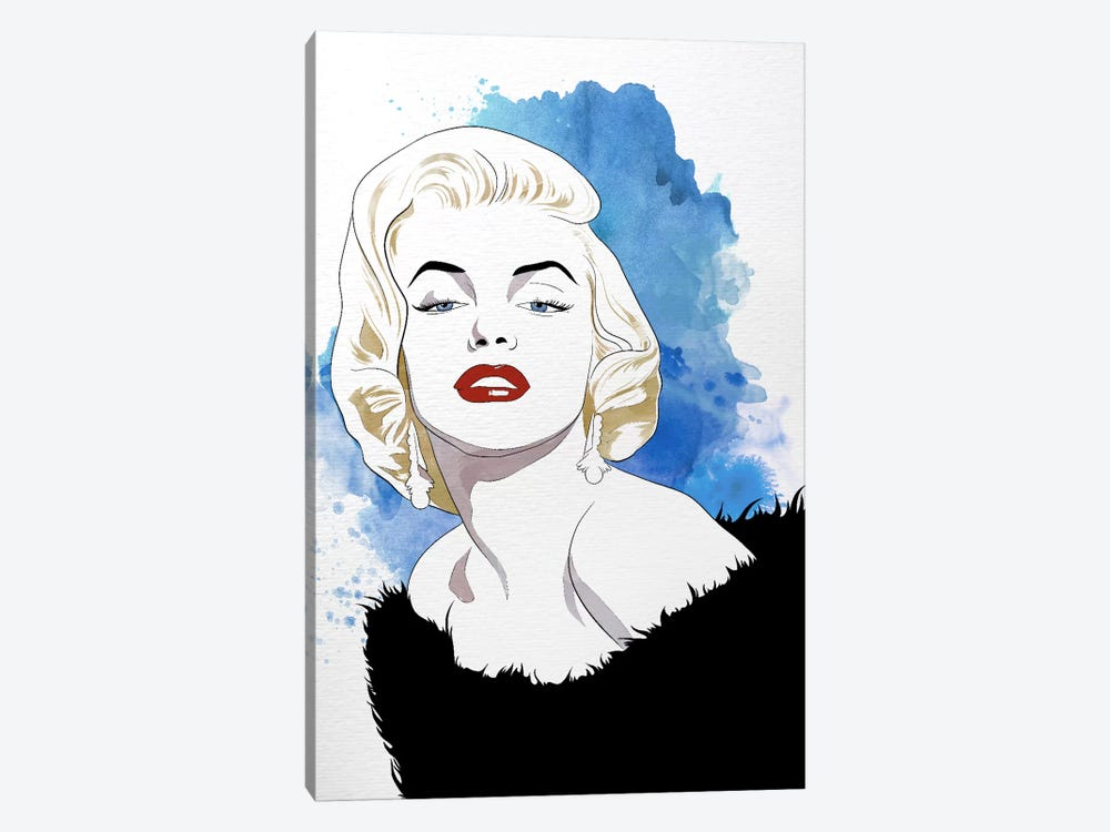 Va Va Voom Watercolor Color Pop by 5by5collective 1-piece Canvas Wall Art